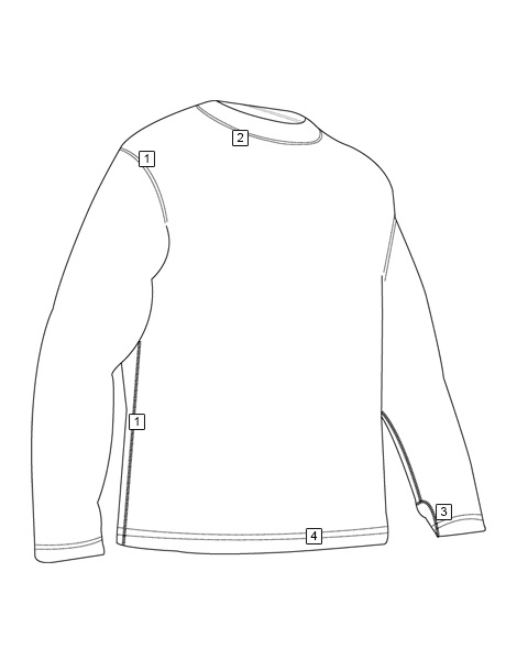 GEN-III POLYPROPYLENE CREW NECK THERMAL TOP