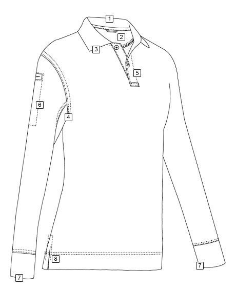 WOMEN'S LONG SLEEVE CLASSIC 100% COTTON POLO