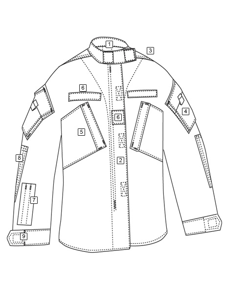 Line Art Uniform : Army combat uniform gl pd a shirt tru spec