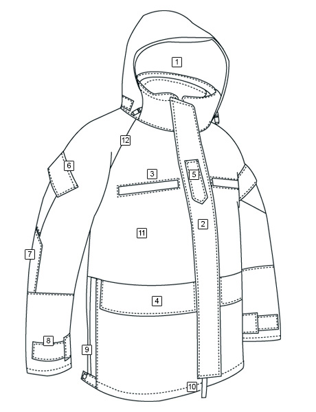 H2O PROOF LAW ENFORCEMENT PARKA