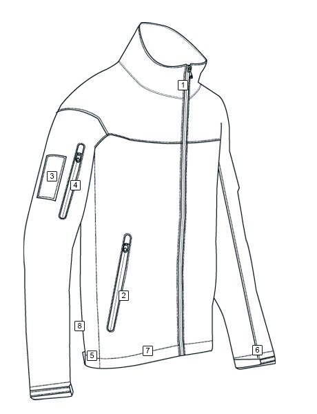 Drawing Lines With Zip : Series tactical softshell jacket tru spec