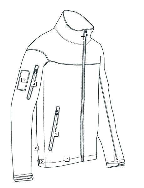 Line Drawing Jacket : Series tactical softshell jacket