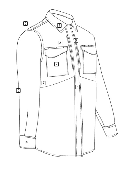 MEN'S ULTRALIGHT LONG SLEEVE UNIFORM SHIRT